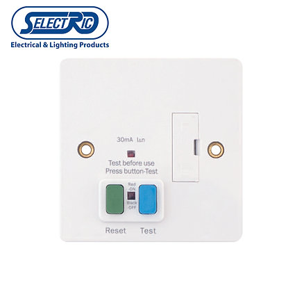 Selectric SP-RCD13FCU 13 A White RCD Fused Spur