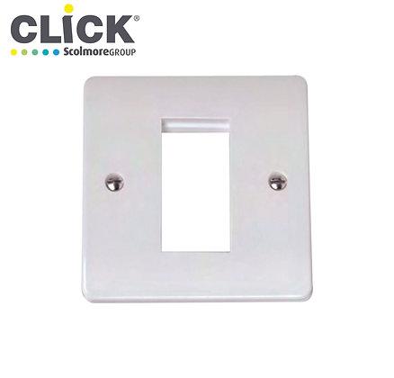 Click Scolmore CMA310 1 Gang 1 Aperture Media Plate