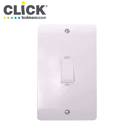 Click Scolmore CMA502 45A DP 2 Gang Vertical Switch