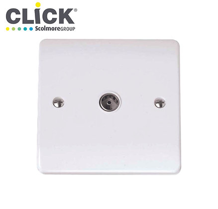 Click Scolmore CMA065 1 Gang Non Isolated Coaxial TV Outlet