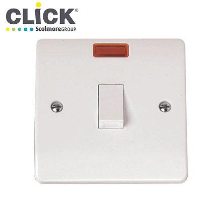 Click Scolmore CMA623 20A DP Switch C/W Neon