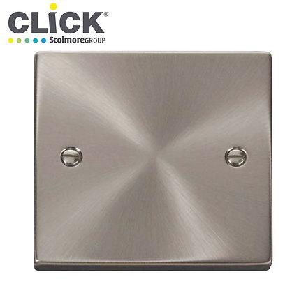Click Scolmore VPSC060 1 Gang Blank Plate Satin Chrome