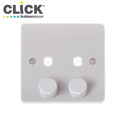 Click Scolmore CMA146PL 2 Gang Dimmer Plate