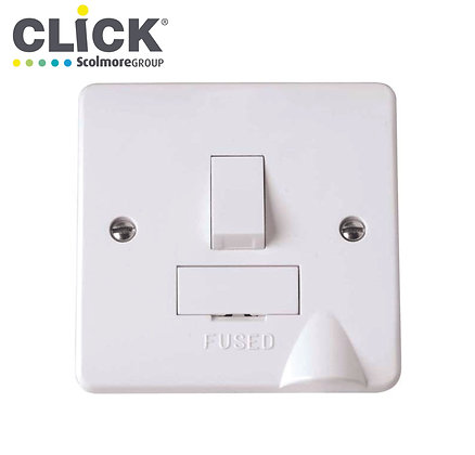 Click Scolmore CMA051 13A DP Switched Fused Spur C/W Flexed Outlet