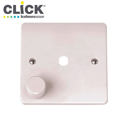 Click Scolmore CMA145PL 1 Gang Dimmer Plate