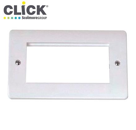 Click Scolmore CMA312 2 Gang 4 Aperture Media Plate