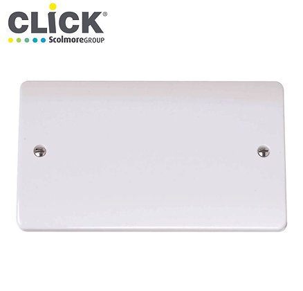 Click Scolmore CMA061 2 Gang Blank Plate