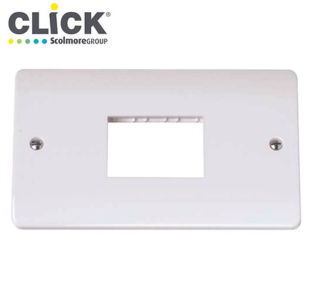 Click Scolmore CMA432 2 Gang 3 Aperture Plate