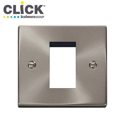Click Scolmore VPSC310 1 Gang 1 Module Front Plate Satin Chrome