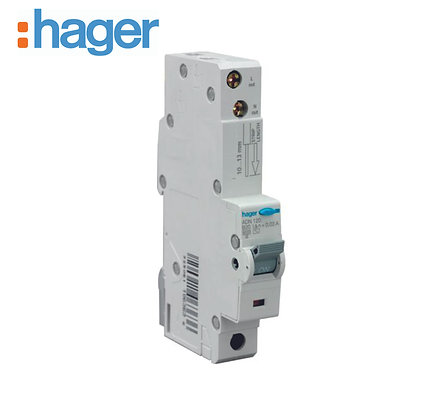 Hager ADN120 20A 30mA 6kA Single Phase B Type RCBO