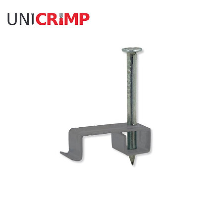 UNICRIMP 1 - 2.5 mm² Metal LSF T&E Grey Cable Clips (Box of 100)