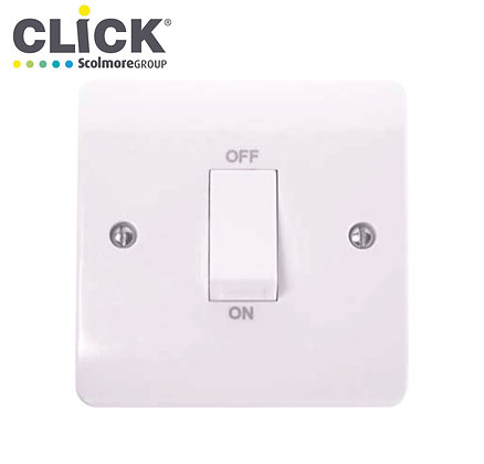 Click Scolmore CMA500 45A DP 1 Gang Switch