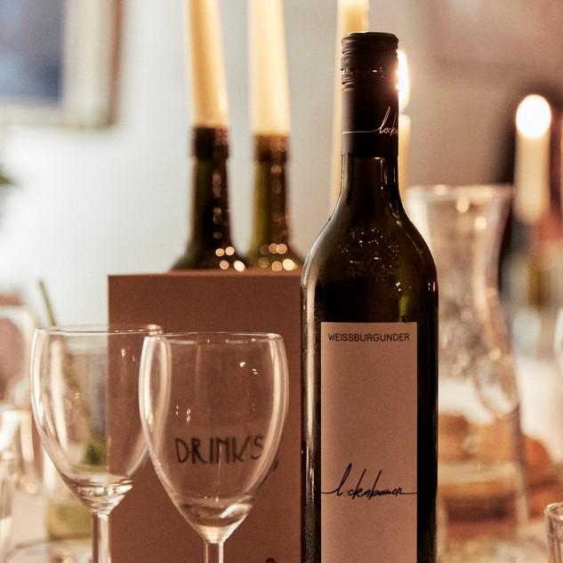 Weinbegleitung beim Pop Up Krimi