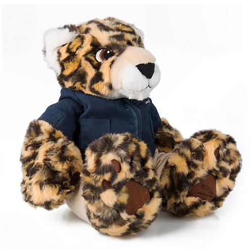 Jaguar Katze Plüsch in Rennmontur