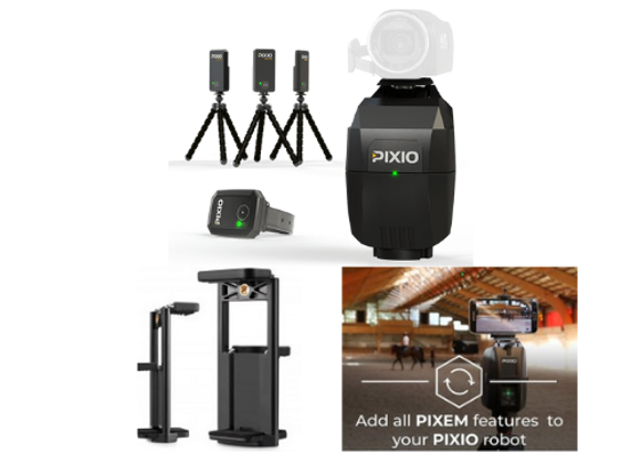 PIXIO with a Smartphone and Tablet holder and Compatibility Upgrade