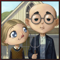 American gothic chibified