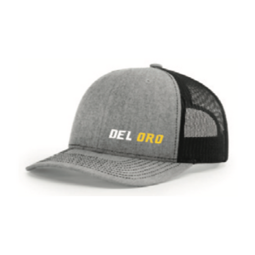 Fan Gear: Del Oro Wordmark Richardson Trucker Hat Mesh 112