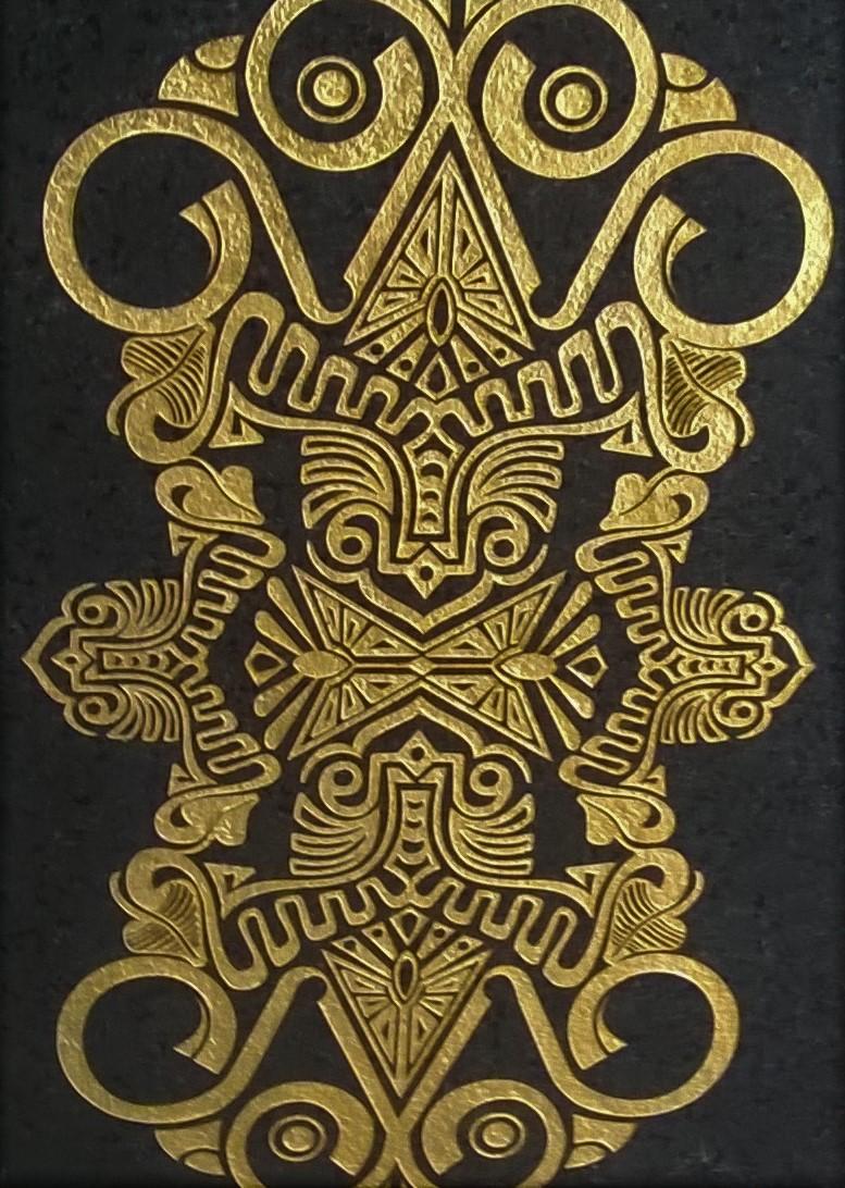 mtif sablé doré à l'or fin