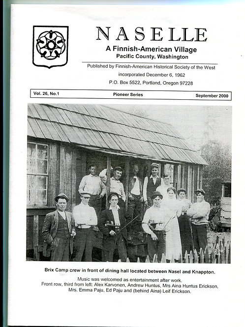 Naselle, A Finnish American Village, Washingon