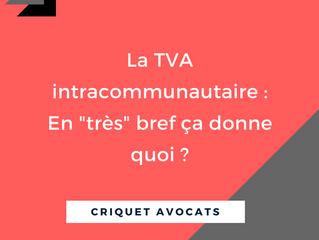 """La TVA intracommunautaire : en """"très"""" bref ça donne quoi ?"""