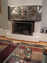 Ατσάλι, χαλκός, χρωματιστό γυαλί. 1.20 x 60 μ, 2007 Steel, copper, coloured glass. 1.20 x 60 m, 2007