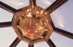 Γυάλινη οροφή σε ιδιωτική οικία