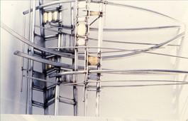 Ένθετη γλυπτική κατασκ0ευή σε κόγχη κτιρίου (λεπτ.)/Sculptural construction in wall recess (det.)