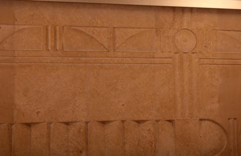 Ανάγλυφος τοίχος σε οδοντιατρείο/Wall relief at a dentistry