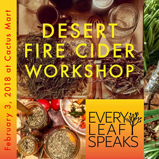 Desert Fire Cider Workshop in Morongo Valley