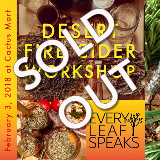 DESERT FIRE CIDER WORKSHOP -SOLD OUT