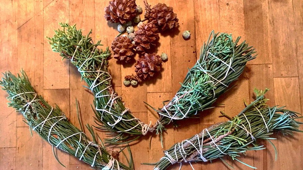 Blessing Herbs - Piñon Pine & Juniper smudge wands