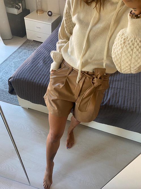 Short ecopelle camel
