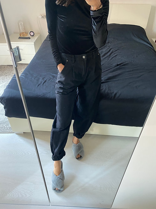 Jeans slouchy grigio