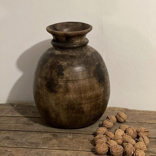Vintage Wooden Dairy Pot