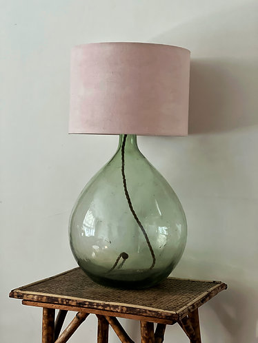 Vintage Linen Hand Dyed Lampshade - Bay