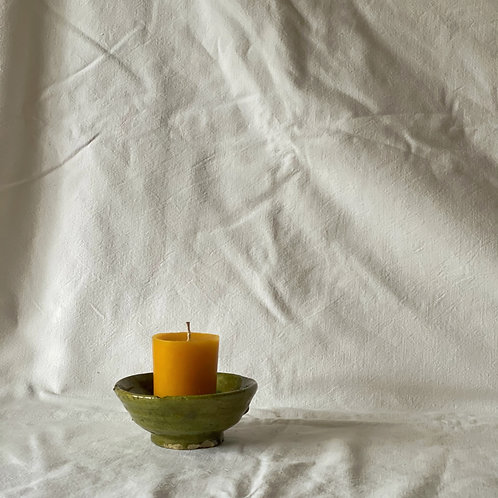 Small Pillar Beeswax Candle