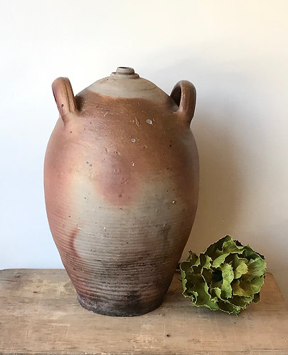 Vintage French Clay Oil Jar