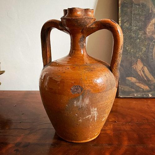 Small Vintage Ochre Jar