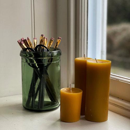 Dark Green Vintage Preserve Jars