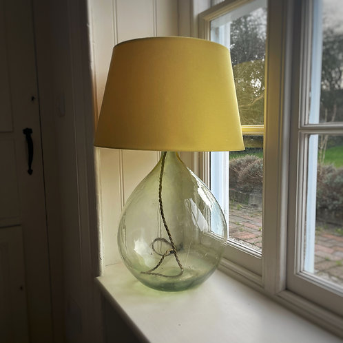 Vintage French Glass Table Lamp