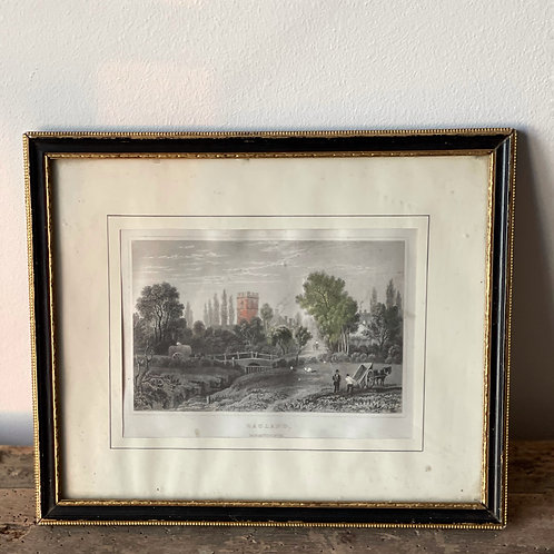 Small Vintage Print - Monmouthshire