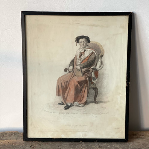 Small Vintage Print - Doctor in Law