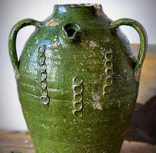 18th Century Green Oil Pot
