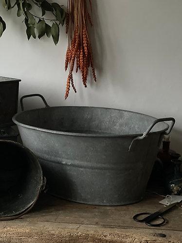 Galvanised Oval Planter