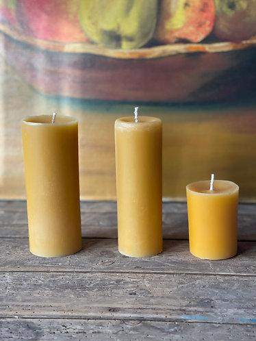 Short Pillar Beeswax Candle
