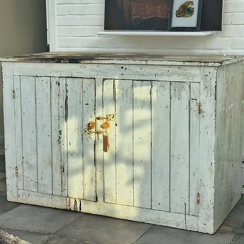 Vintage French White Cupboard