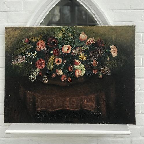 Large Oil on Canvas Still Life