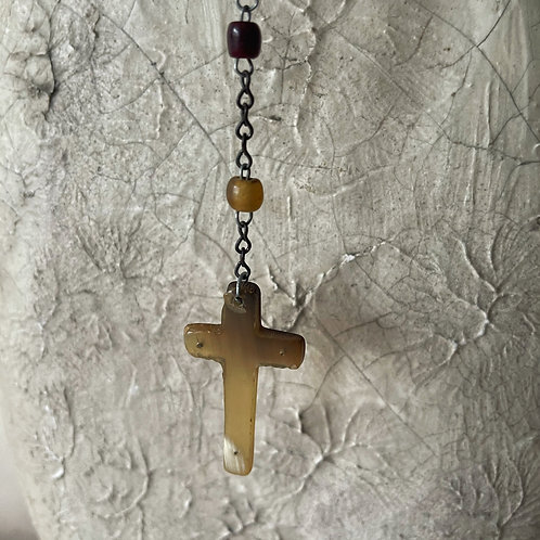 Vintage Rosary Beads Horn