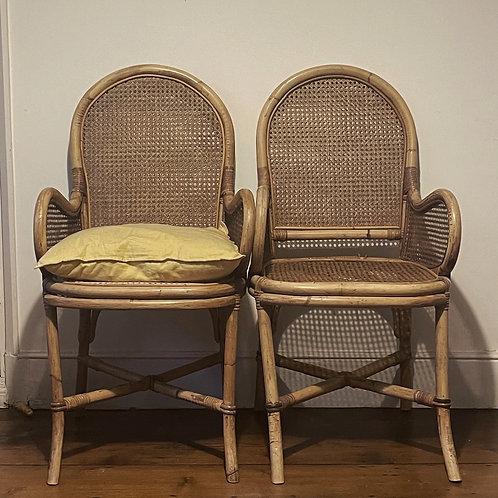 Mid-Century Bamboo Chairs