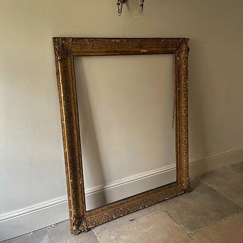 XL Vintage French Gilt Mirror Frame